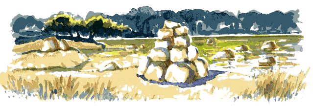 Header picture showing stones on a river